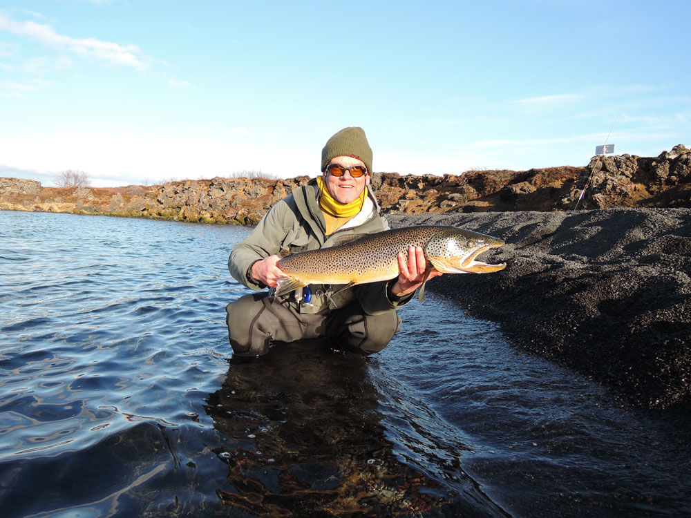Lake Thingvallavatn - Brown Trout - Fly Fishing in Iceland - gofishing.is